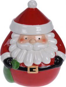 Borcan mare fursecuri figurina Mos Craciun