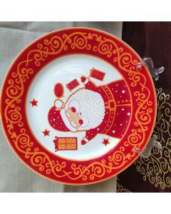 Farfurie intinsa decor elegant auriu 26.7 cm