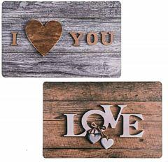 Protectie de masa Love & I love you Bookidz, 43.5 x 28.5 cm, 2 design-uri