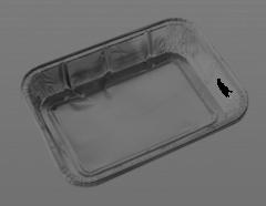 Caserola dreptunghiulara din aluminiu cu capac, set 3 bucati