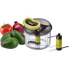 Tocator manual Tefal 5-Second K1320404, 900 ml, plastic, Negru/Verde
