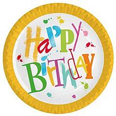 Set farfurii Happy Birthday, 23cm, 10 buc