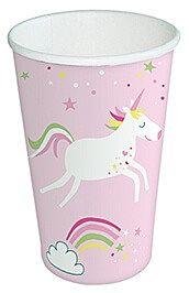 Set pahare Unicorn roz, 0.2l, 10buc