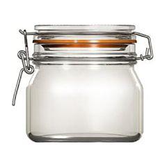 Borcan cu capac de sticla Uniglass, inchidere ermetica, 500 ml