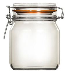 Borcan cu capac de sticla Uniglass, inchidere ermetica, 750 ml