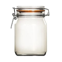 Borcan cu capac de sticla Uniglass, inchidere ermetica, 1000 ml