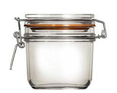 Borcan cu capac de sticla Uniglass, inchidere ermetica, 350 ml
