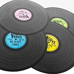 Protectie de masa design Retro Disco Bookidz, 39 cm, 4 culori