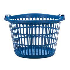 Cos de rufe Vanora, rotund, plastic, 49x47.5x34 cm, albastru, 35 L