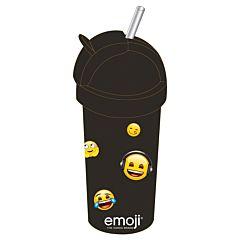 Sticla lichide Emoji Iconic, plastic, 380 ml, Negru