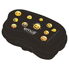 Cutie sandwich cu licenta Emoji Iconic, plastic, Negru