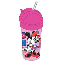 Sticla lichide Minnie Mouse Disney, plastic, 380 ml, Roz