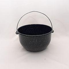 Ceaun cu toarta din sarma Emailul, otel emailat, 28x28x16 cm, Negru