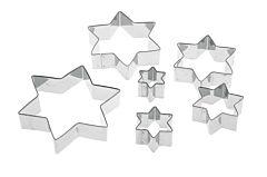 Set 6 forme biscuiti stea Pedrini, inox, Argintiu
