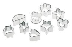 Set 9 forme prajituri Pedrini, inox, Argintiu