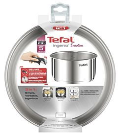 Craticioara Ingenio Emotion Tefal, inox, 20 cm, Argintiu