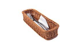 Cos pentru paine/tacamuri Bacoda, material sintetic, aspect ratan, Bej inchis