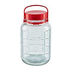 Borcan sticla capac plastic, 5 l