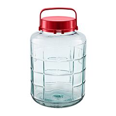 Borcan sticla capac plastic, 10 l
