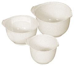 Set 3 boluri pentru mixer Curver, plastic, 1.5/2/2.5L , 22.2 x 12.3 x 22.2 cm, Gri