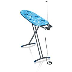 Masa de calcat Air Board M Solid Plus Leifheit, 49x8x154 cm, metal/bumbac, Albastru/Gri