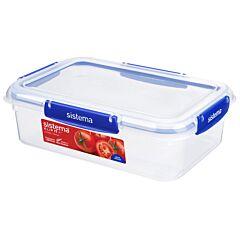 Cutie alimentara cu capac Klip It Plus Sistema, forma rectangulara, plastic, 2.2 L