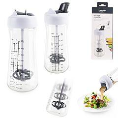 Shaker pentru dressing salata Cook Concept, plastic-acronitril stiren, Transparent/Gri