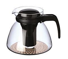 Ceainic cu filtru si maner, sticla termorezistenta, 1.5 L