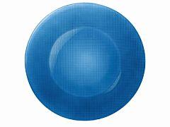 Platou rotund Inca Bormioli, sticla, 31 cm, Albastru