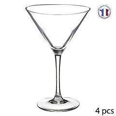 Set 4 pahare cocktail Gourmet, sticla, 30 cl, Transparent