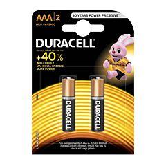Set x 2 baterii AAA LR03 , Duracell