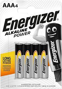 Set 4 baterii Energizer Alcaline Power R03/AAA
