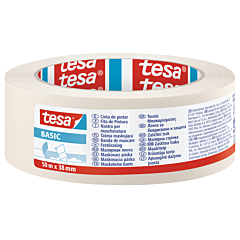 Banda mascare BASIC 50M x 38MM, crem, Tesa