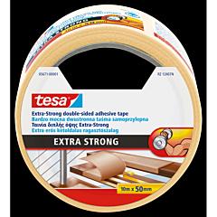 Banda dublu adeziva Extra Strong, mochete, interior-exterior, 10M50MM transparenta, Tesa