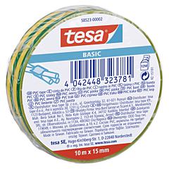 Banda electroizolatoare 10MX15MM, galben/verde, Tesa