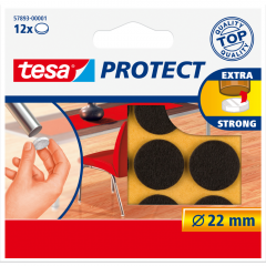Protectii Antizgarieturi rotunde 22 mm, maro, Tesa