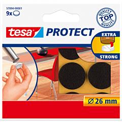 Protectii Antizgarieturi rotunde 26 mm, maro, Tesa