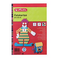 Carton colorat, 300 gr, 10 coli, 22-32  cm