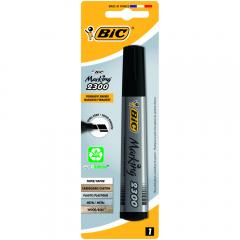 Marker Permanent BIC ECOlutions 2300, varf tesit, negru, 1 bucata