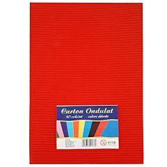 Carton ondulat A4, 6 bucati/set, diferite culori