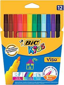 Markere de colorat BIC Kids Visa 12 buc