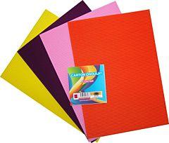 Carton ondulat A4, 4 culori/set, diferite culori