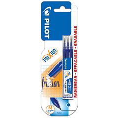 Set 3 rezerve Roller Pilot FriXion 0.7 mm, Albastru