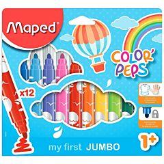 Carioca Maped maxi, 12 culori