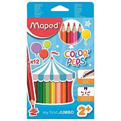 Creioane colorate Maped maxi, 12 culori