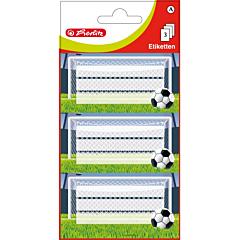 Set 9 etichete scolare fotbal