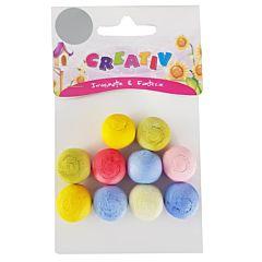 Ser creativ bile mici polistiren, dimensiune 2 cm, 10 bucati/set, diferite culori