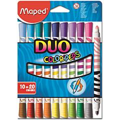 Carioca Maped Duo, 20 culori