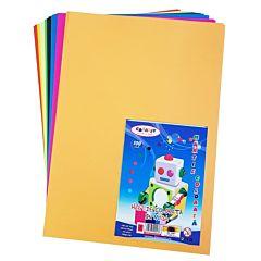 Carton colorat A4, 160 gr/mp, 100 coli, diferite culori