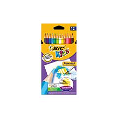 Creioane colorate Aquacouleur, 12 bucati